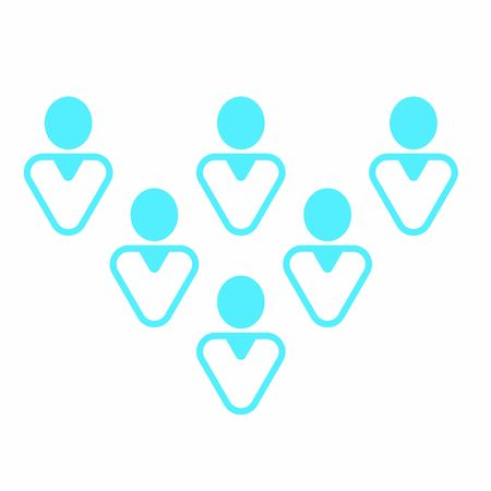 Modern user icon - Group of mixed colored men