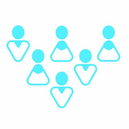 Modern user icon - Group of mixed colored men and women