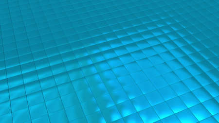 Background image with turquoise tiles in perspective view