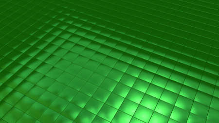 Background image with green tiles in perspective view Banque d'images