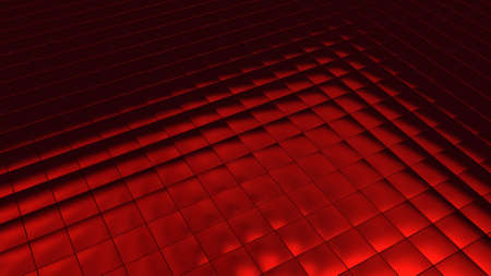 Background image with red tiles in perspective view