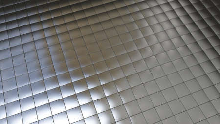 Background image with silver tiles in perspective view