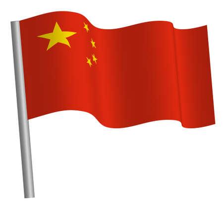 Chinese flag waving
