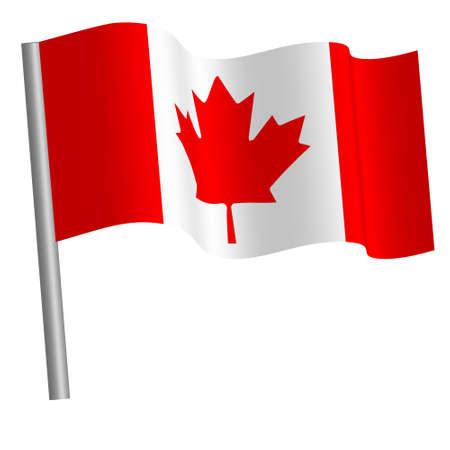 Canadian flag waving Banque d'images
