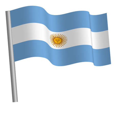 Argentine flag waving Banque d'images