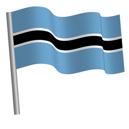 botswana flag waving on a pole Banque d'images