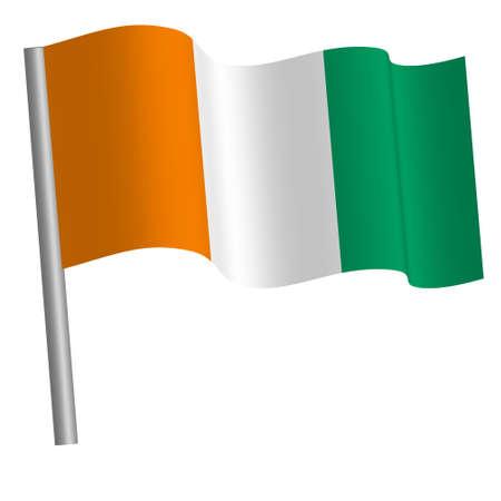 Ivory coast flag on a pole Banque d'images