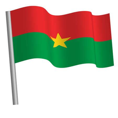 Burkina faso flag waving on a pole