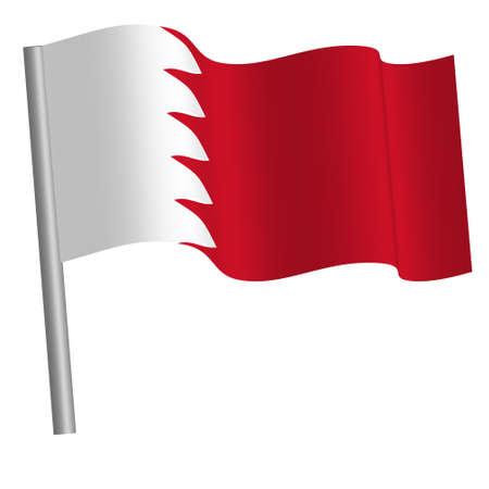 Bahraini flag waving on a pole Banque d'images