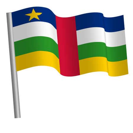 Central African flag on a pole