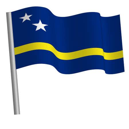 Curacao flag on a pole