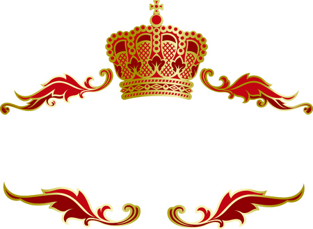 magnific: Vector richly and magnific decorated elegant frame with a monarch crown. Illustration
