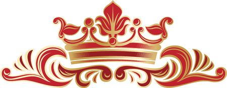 magnific: Vector richly and magnific decorated elegant border with a monarch crown. Illustration