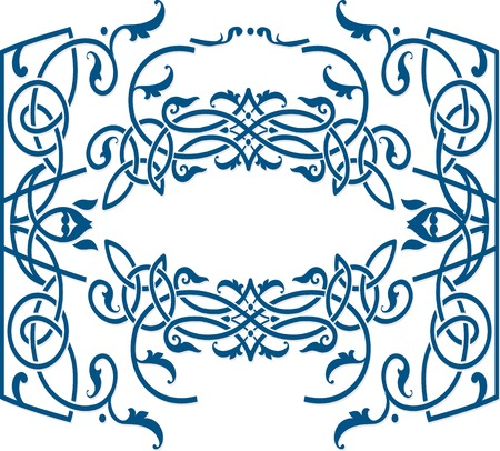 irish culture: Vector celtic ornament floral frame label template.