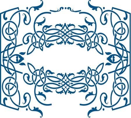 label frame: Vector celtic ornament floral frame label template.