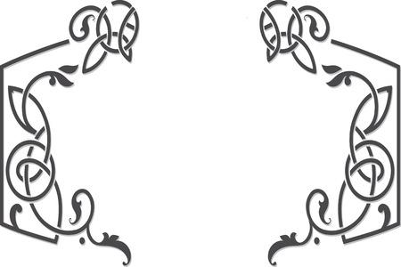 celtic: Vector celtic ornament floral frame label template.