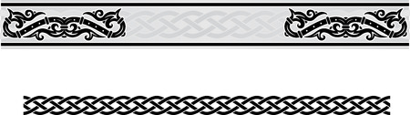 Vector celtic Ornament floralen Rahmen. Standard-Bild - 52823014