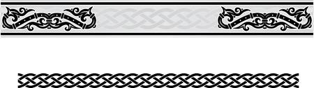 celtic: Vector celtic ornamento cornice floreale.