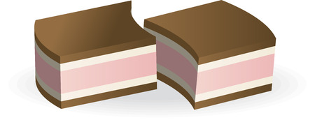 souffle: Two chocolate candies stuffed with pink souffle.