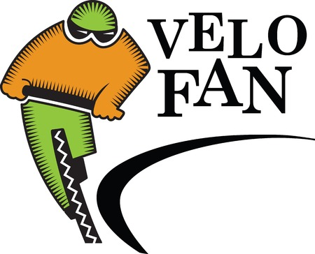 Vector illustration logo template for cycling competition.