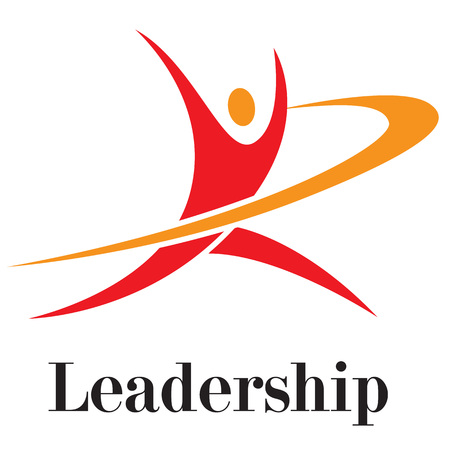 Vector illustration. Leadership concept running to opportunities. Growing leadership, success leadership, businessman opportunities, leader worker. 矢量图像