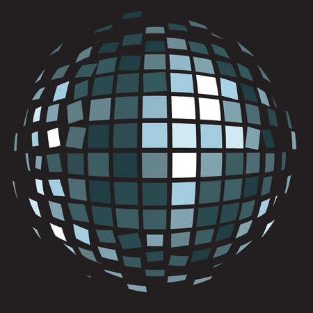 glitter ball: Vector illustration: disco club mirror ball (glitter ball).