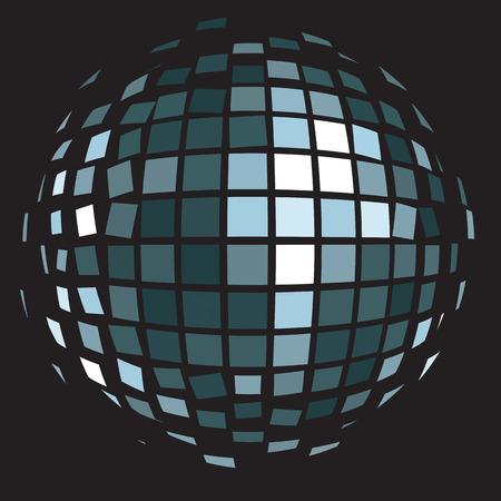 mirrorball: Vector illustration: disco club mirror ball (glitter ball).