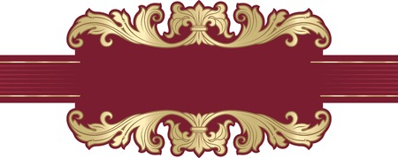 richly: Vector richly decorated ribbon frame in baroque style. Illustration