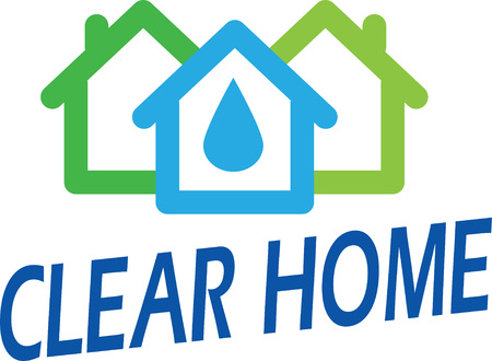 simple logo: Vector illustration logo template on theme house care, green house, eco etc.