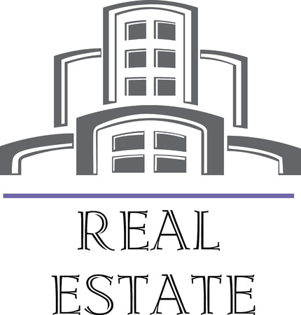 upmarket: Vector illustration logo for company engaged in the construction and real estate sales. Illustration