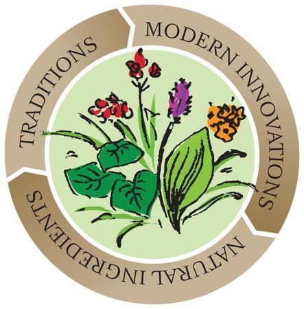 fresh herbs: Natural ingredients, fresh herbs store emblem -vector illustration. Illustration