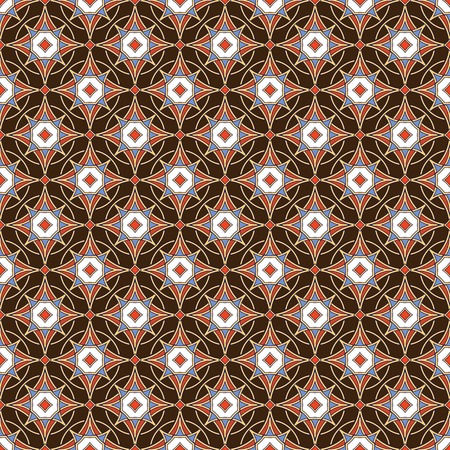 Colorful Vector Seamless Pattern. Traditional Arabic Islamic background. Illustration