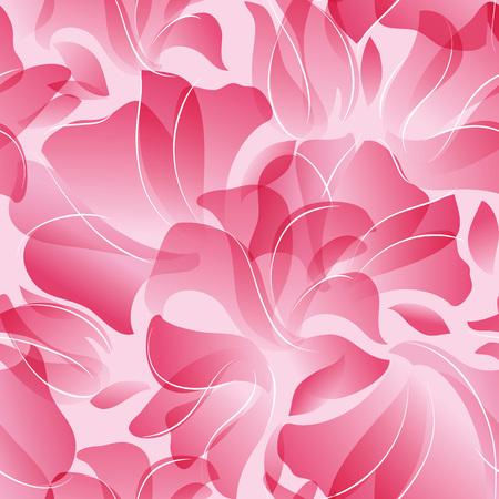 Vector illustration Seamless Pattern von rosa Blütenblättern Hintergrund. Standard-Bild - 61925015