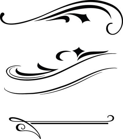 Three elegant vector borders templates.
