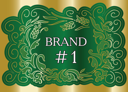 richly decorated: Vector richly decorated green and gold frame decorated in baroque style.