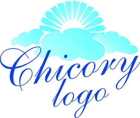 Cichorium intybus Chicory. Vector Illustration logo or icon template. Health and Nature. Ilustracja