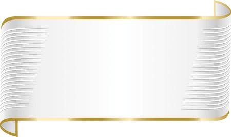 Witte en gouden elegante lintbanner