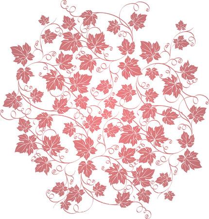 Elegante rijk versierde druivenbladeren