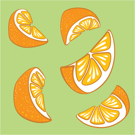 Bright set of slices of lemon.