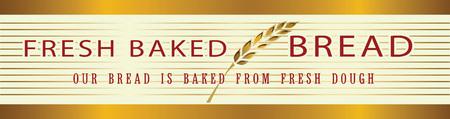 Vector gold and white decoration. Bakery banner template, border frame decorative element. Standard-Bild - 109723230