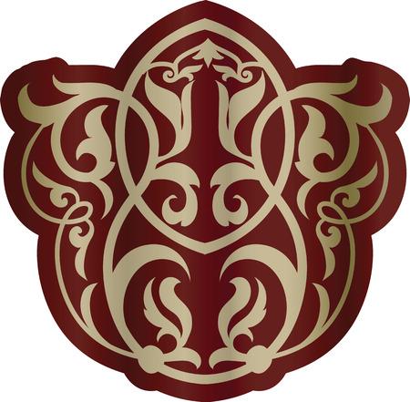 Oriental floral ornament element. Vector. Standard-Bild - 109215774
