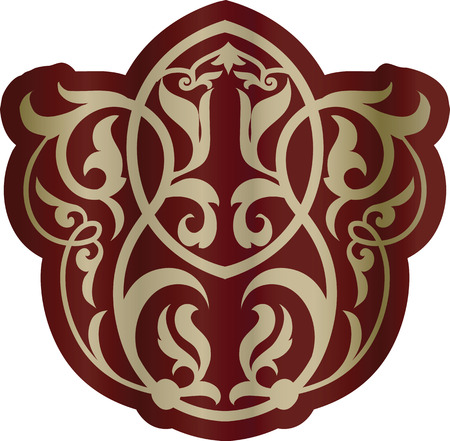 Oriental floral ornament element. Vector.  Illustration