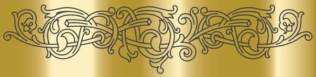 Celtic pattern ornament decoration design element. Can be use as template for border or corner. Vector illustration