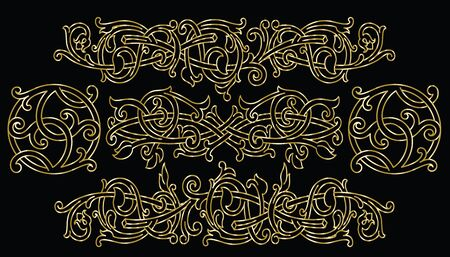 Celtic pattern ornament decoration design element. Can be use as template for background, border or corner. Vector illustration