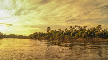 dawn in the estuary Stock Photo