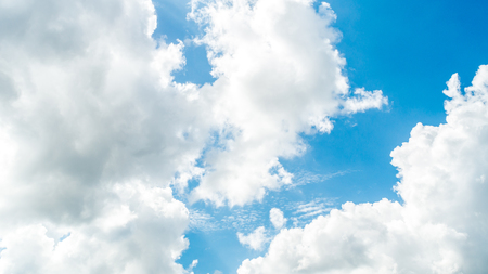 blue sky and white cloud. natural abstract background Stock Photo