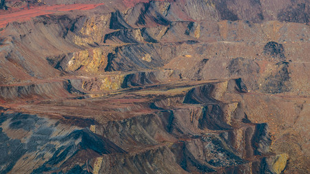 Open pit coal mining in Sangatta, Indonesia