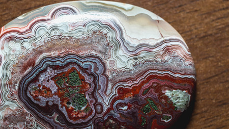 abstract pattern of agate stone. closeup detail of gemstone pattern. natural abstract geology background.