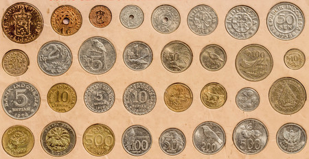 set of coin. Indonesian rupiah coin collection. currency, finance, monetary