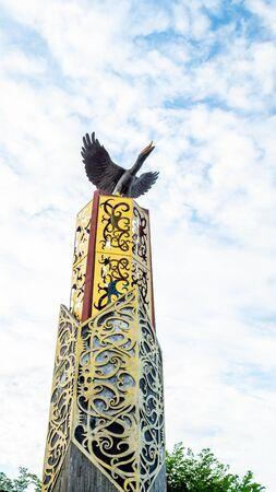 Tugu Cinta Damai, iconic landmark of Tanjung Selor, Bulungan, Indonesia